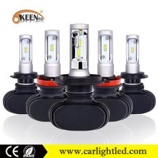 KEEN DC 9-32V 50W 8000LM S1 Led Headlight H4 H7 9005 9006 H11 Car Led Headlamp with air fan