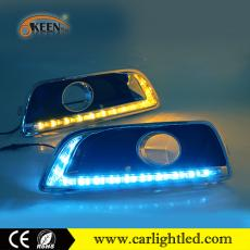 KEEN DC 12V White Amber Ice Blue DRL Led Running Light Waterproof for Chevrolet Malibu 2011-2015