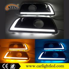 KEEN for Chevrolet Malibu 2011-2015 Daytime Running Light Guide Strip Led DRL with Amber Turn Signal Lights