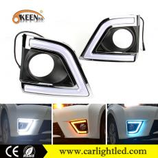 KEEN DC 12V 2014-2017 Toyota Corolla Led Daytime Running Fog Lamp with White Blue Amber Signal Light