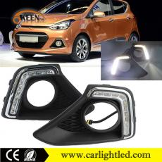 KEEN 12V Car Styling Led DRL Fog Lamp Auto Daylight Running Light for Hyundai I10 Grand 2013-2014