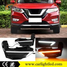 KEEN White Amber Car DRL Led Daytime Running Lights 12V Waterproof for Nissan X-Trail 2017