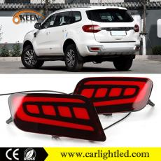 KEEN Ford Everest C-type Tail Light Flow Turn Signal Rear Bumper Reflector Parking Brake Lamp