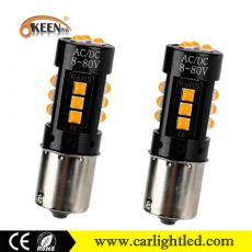 Keen 1156 3030 15 SMD 3000K canbus error free LED car turn signal light reverse bulbs car lamp